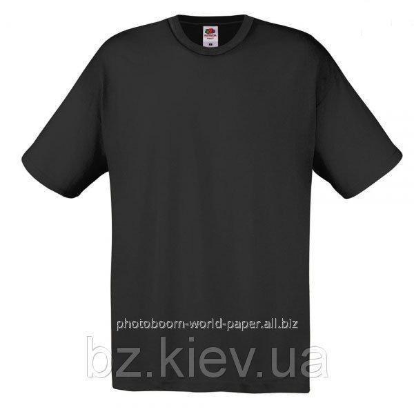Футболка унисекс Original T для термотрансферной и прямой печати L, Черный, код 061082036