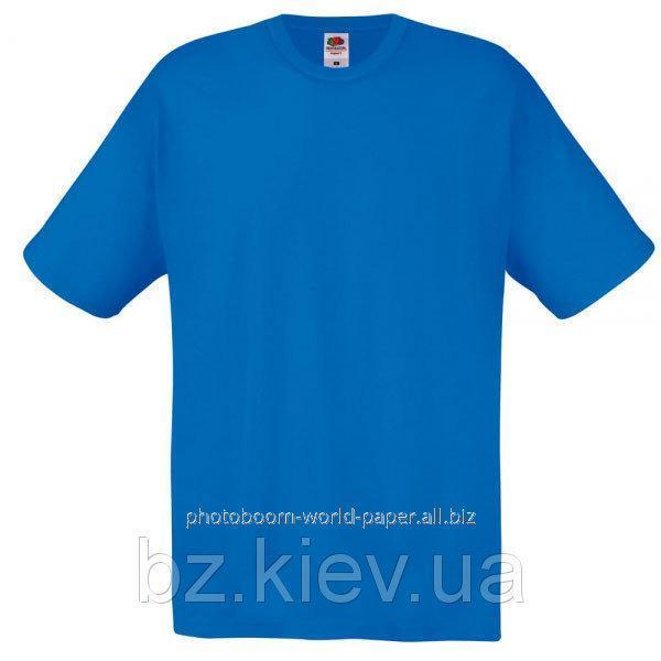 Футболка унисекс Original T для термотрансферной и прямой печати L, Королевский синий, код 061082051