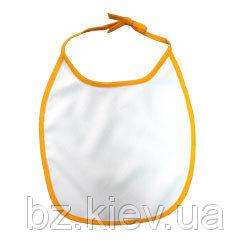 Слюнявчик для сублимации с желтой каймой, код TXL00.00.010/NLA