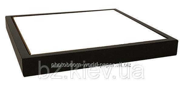 Панно в рамке из темного натурального дерева с плиткой для сублимации ( 15*15 см), код GRW16.01.040/UA