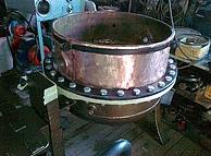 Котел сбивальный для халвы КС-150 медный