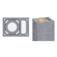 Купить Одноходовой керамический дымоход с вентиляционным каналом Schiedel UNI D250+V L8