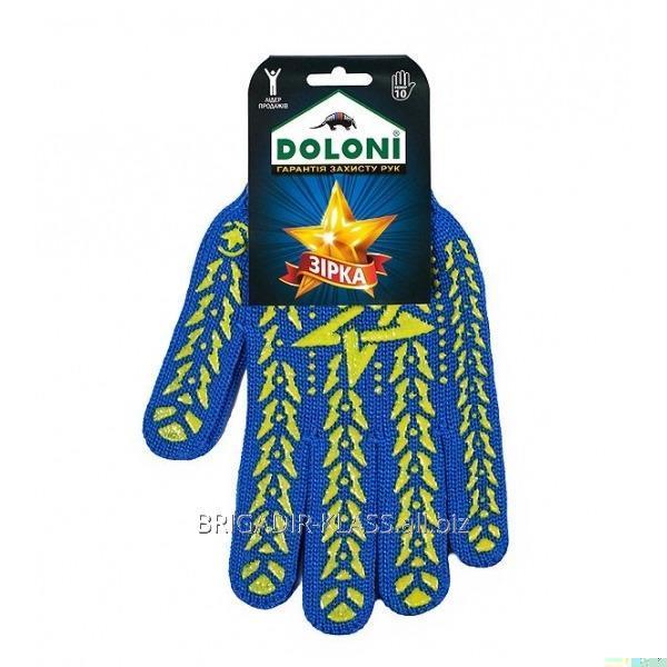 Перчатки звезда синяя ДКГ-587 уп. 10 пар. ,Модель  РГ-03-6