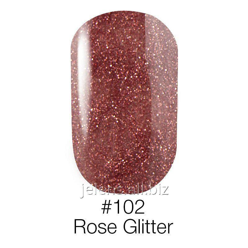 Купить Гель-лак Naomi 102 Rose Glitter 12 мл