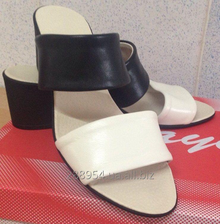 95f039636 Сабо кожаные на каблуке, СТЛ16 купить в Харькове