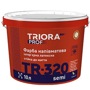 Краска латексная полуматовая TR -320 semi TM TRIORA prof арт.3598