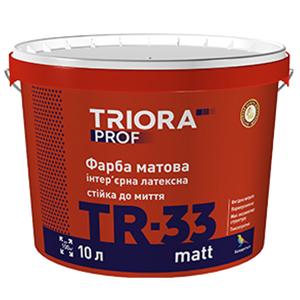 Краска интерьерная латексная TR-33 matt TM TRIORA prof арт.3592