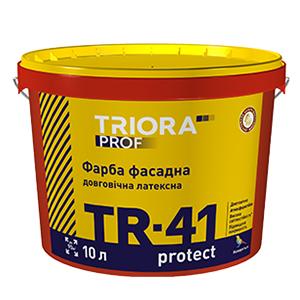 Долговечная фасадная латексная краска TR-41 protect TM TRIORA prof 1л арт.3601