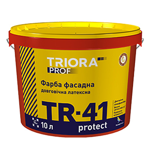 Долговечная фасадная латексная краска TR-41 protect TM TRIORA prof 10 л арт.3604