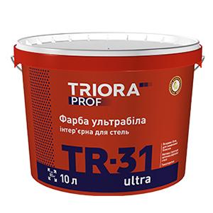 Краска интерьерная ультрабелая для потолков TR-31 ultra TM TRIORA prof 10 л арт.3635