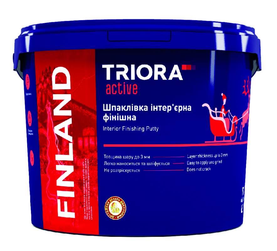 Шпатлевка интерьерная финишная FINLAND TM TRIORA active 0,8 кг арт.3512