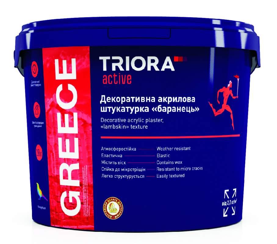 Декоративная акриловая штукатурка барашек GREECE TM TRIORA active 21 кг арт.3517