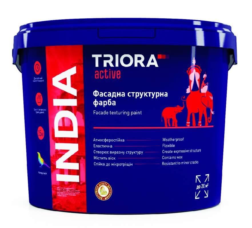 Фасадная структурная краска INDIA TM TRIORA active 15 кг арт.3504
