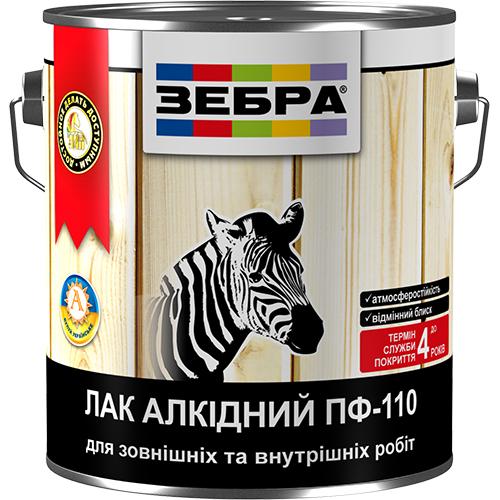 Лак ЗЕБРА алкидный ПФ-110 арт.2829