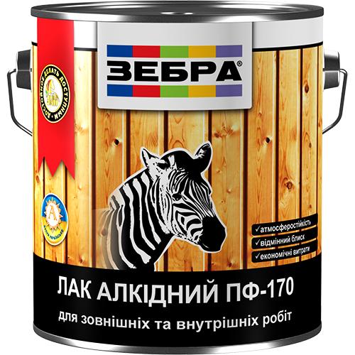 Лак ЗЕБРА алкидный ПФ-170 арт.3412