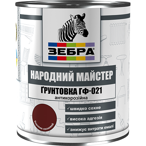 Грунтовка ЗЕБРА серии Народный Мастер ГФ-021, 2,8 кг арт.3033 боровик сосновый
