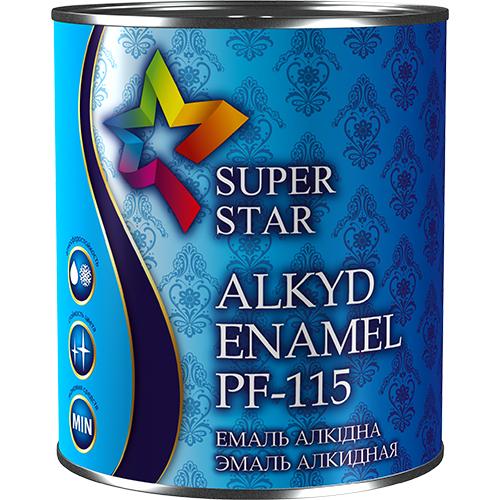 Эмаль Super Star алкидная ПФ-115,0,9 кг арт.2100 белый глянец
