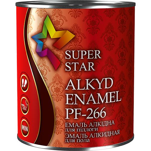 Эмаль для окраски полов алкидная ПФ-266 ТМ Super Star, 0,9 кг арт.2740 желто-коричневый