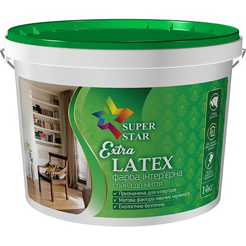 Краска Super Star интерьерная Extra LATEX 14 кг, арт.2995