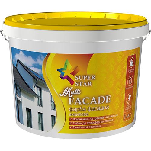 Краска Super Star фасадная Multi FACADE 1,4 кг, арт.2988