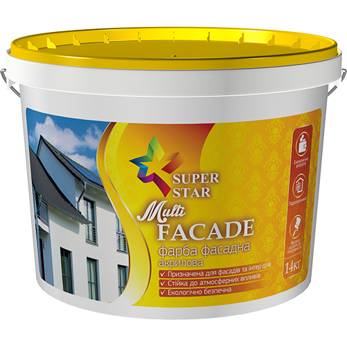 Краска Super Star фасадная Multi FACADE 4 кг, арт.2989
