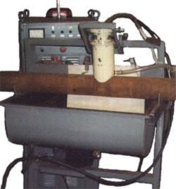 Оборудование для упрочнения поверхностей катания