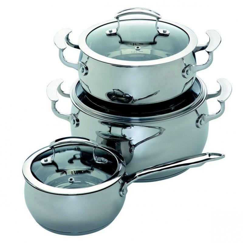 Buy Set of pans of stainless steel