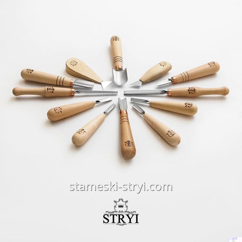 Набор стамесок для резьбы STRYI, 12 штук, арт. A12001