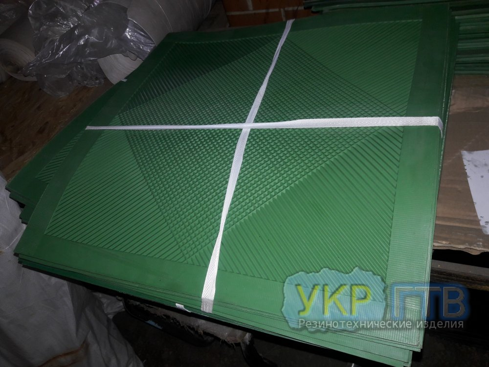 Коврики диэлектрические 0,75×0,75 м (зеленые)
