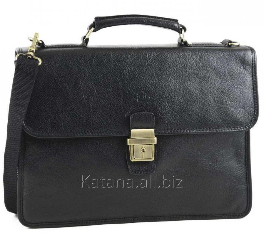 a5095e120f2d Кожаный портфель мужской черный Katana 36825 купить в Киеве