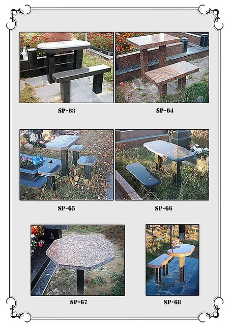 Buy Little tables and shops from granite 3