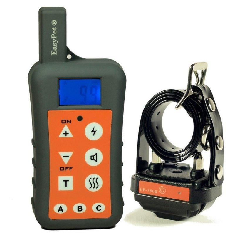 Электронный ошейник для дрессировки собак влагозащищённый, аккумуляторный с дальностью до 1,2 км (модель Easy pet - 380R) (код 02091)