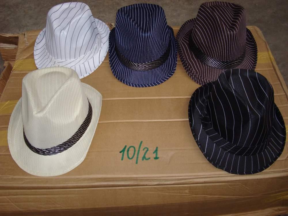 Шляпа гангстерская в полоску