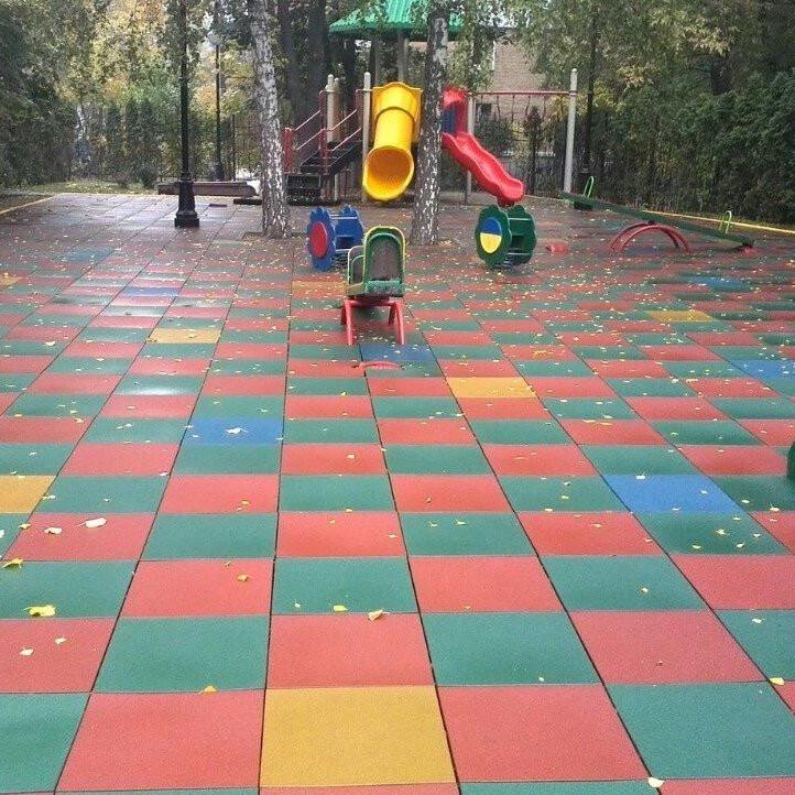 Купить Резиновая плитка для детских и спортивных площадок