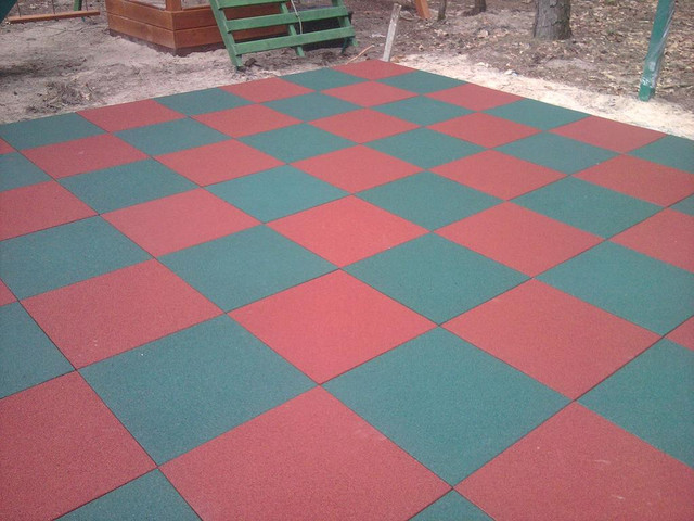 Buy Covering for playgrounds - SAFETY RUBBER TILE