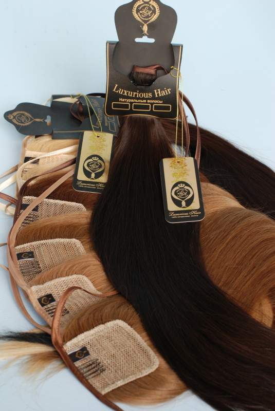 Buy Chignon tail on a tape from natural hair
