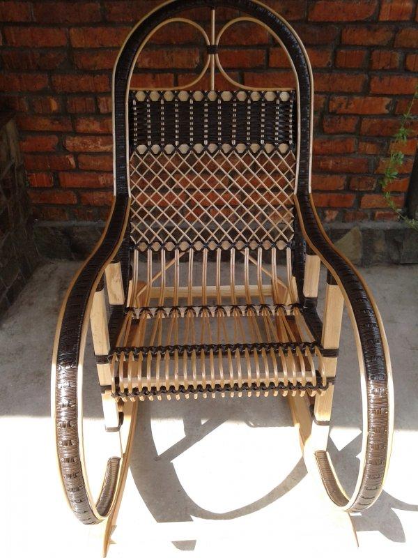 Купить Кресло качалка из ротанга