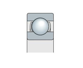 Подшипник шариковый радиальный однорядный открытый