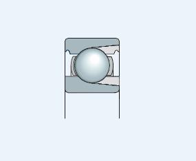 Подшипник однорядный с пазом для ввода увеличенного количества тел качения