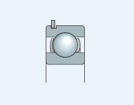 Подшипник однорядный с канавкой под стопорное кольцо