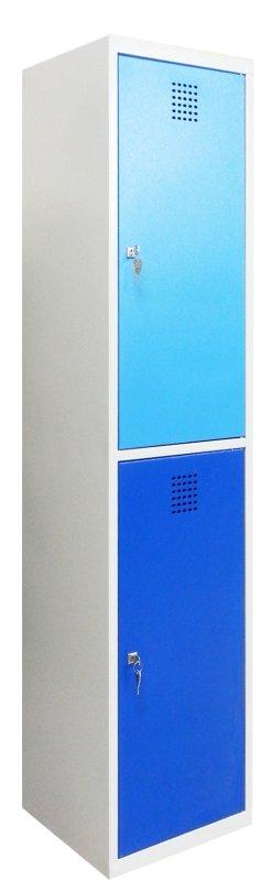 Ячеечный металлический шкаф (локер) на 2 отделения Sus 412