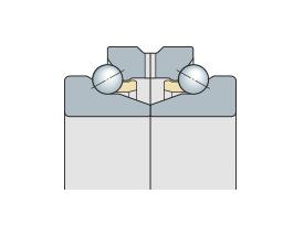 Спецпара однорядных упорно-радиальных подшипников с углом контакта 60°  прецизионная