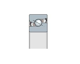 Подшипник упорно-радиальный однорядный с углом контакта 60° прецизионный