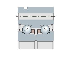 Подшипник упорно-радиальный двухрядный с отверстиями для болтов