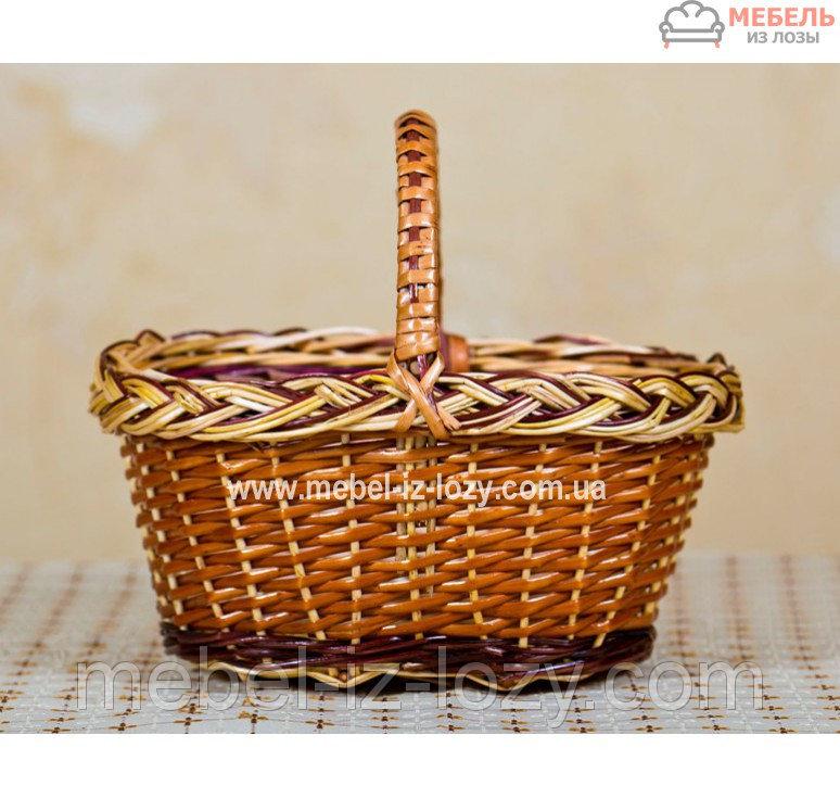 Купить Корзина из лозы для детей с плетенкой