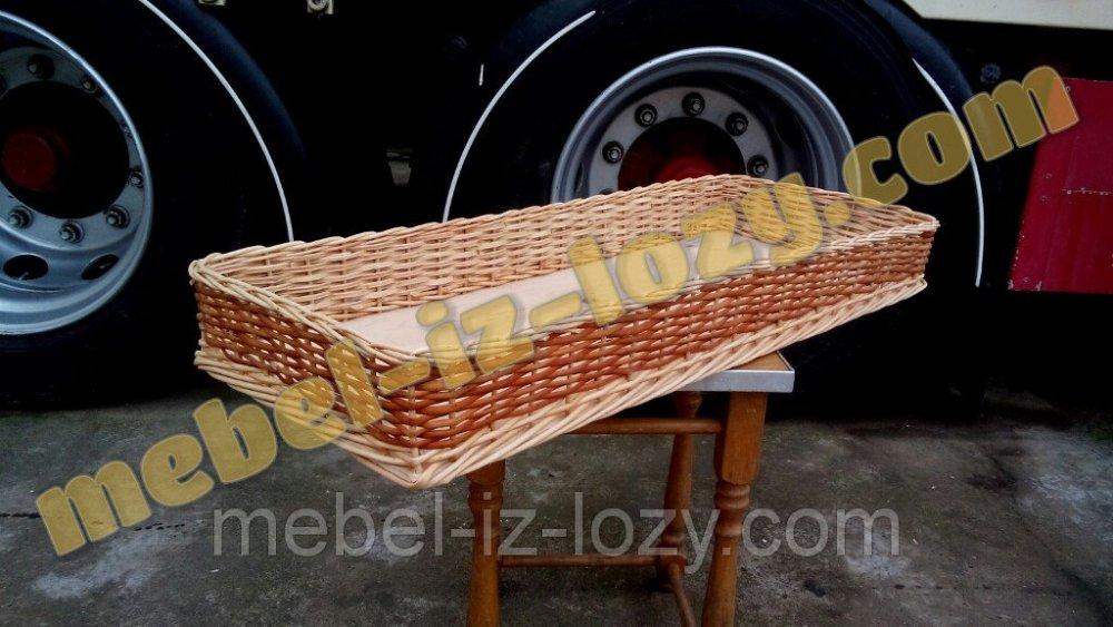 Купить Плетёный лоток из лозы 60*40 с высотой 10 см