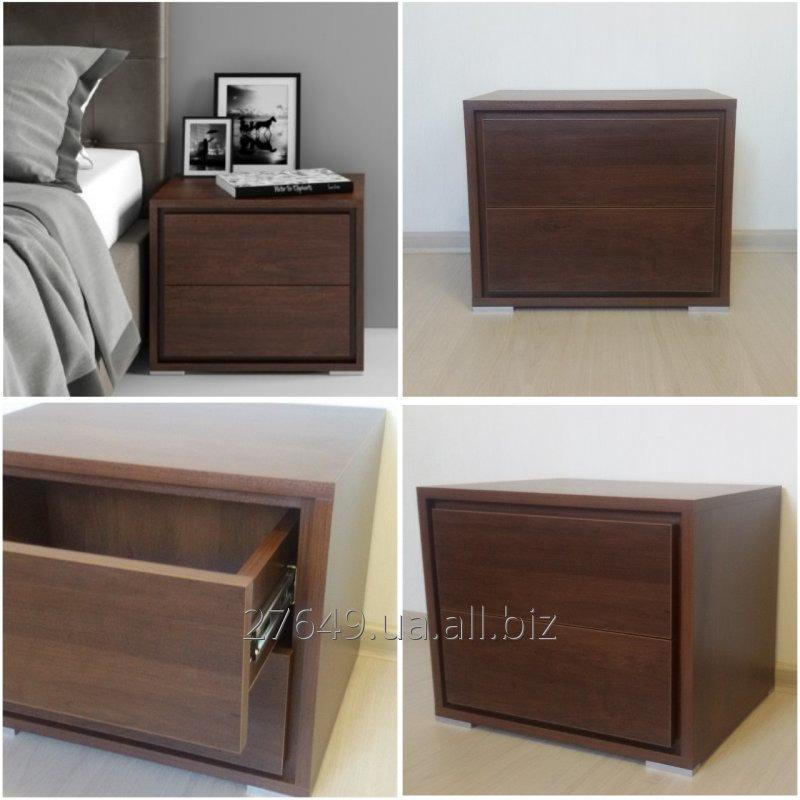 Stylish bedside table without handles in imitation waln buy in zaporozhe stylish bedside table without handles in imitation waln watchthetrailerfo