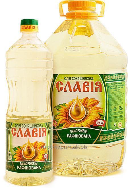 Масло подсолнечное вымороженное в ПЭТ бутылках  на exp.