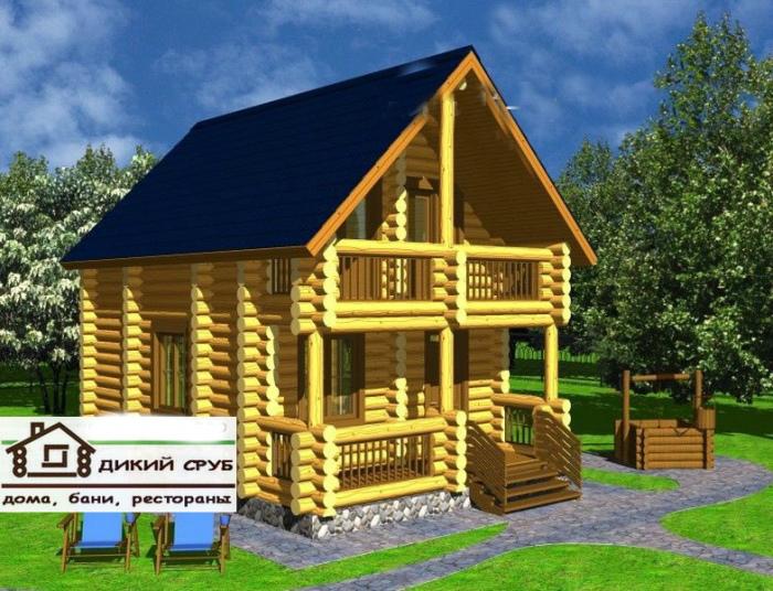 Дом деревянный площадью 70 м2