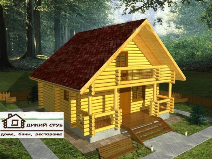 Проект дома деревянного площадью 76 м2